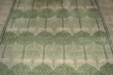 Voysey rug, 'Green Pastures', 13ft x 9ft.